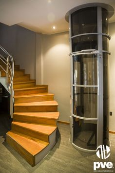 A vacuum lift can fit in with any room or house design. #vacuum #lift #domestic #home #elevator www.domesticliftcompany.co.uk