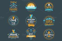Summer Holiday Badges by AntartStock on Creative Market