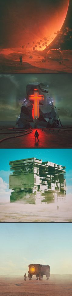 Space prints made with Cinema 4D, Octane Renderer, X-particles, Zbrush, etc.by Mike Winkelmann #protheine