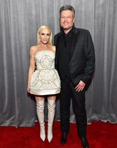 The 2020 Grammy Awards are finally here and the stars brought their A-game to the red carpet. Here, all the looks shutting down the Grammys red carpet. Gwen And Blake, Gwen Stefani And Blake, Black Leotard, Evolution Of Fashion, Red Carpet Gowns, All Fashion, Star Fashion, Designer Gowns, Red Carpet Fashion
