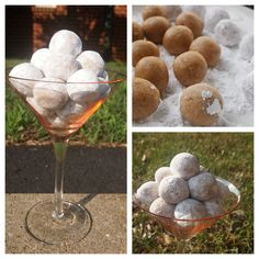 """Bolitas de nuez or """"nut balls"""", are made with finely grated or processed Brazil nuts, ground vanilla cookies, and condensed milk, all mixed together. Peruvian Desserts, Peruvian Dishes, Peruvian Recipes, My Recipes, Cooking Recipes, Vanilla Cookies, Confectioners Sugar, Yummy Cupcakes, American Food"""