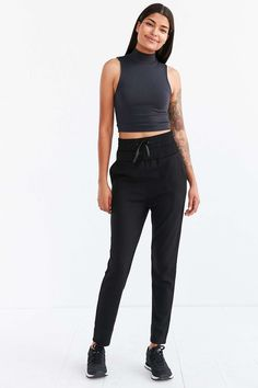 Silence + Noise Opel Double Waistband Pull-On Pant - Urban Outfitters
