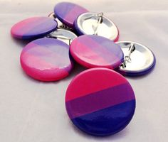Bisexual Bisexual Flag Pride Bisexual Button by CatStacher on Etsy
