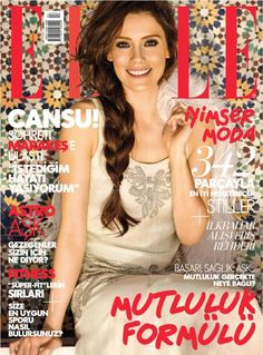 Cansu Dere - Elle Magazine Cover [Turkey] (April 2012)