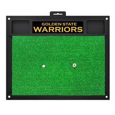 NBA - Golden State Warriors 20 in. x 17 in. Golf Hitting Mat, Green