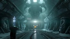 ArtStation - / First Mission in Halo 4 campaign, Kenny Magnusson Halo 5, Sci Fi Fantasy, Dawn, Campaign, Environment, Darth Vader, City, Artwork, Interiors