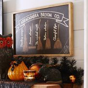 Witch Brooms Chalkboard Wall Decor