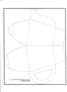 Teapot - Paper Template - FRONT  Prints onto an A4 sheet of paper