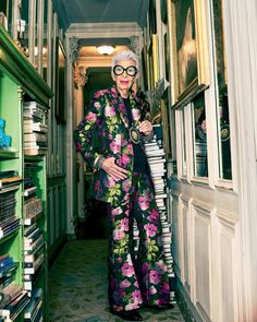 """32.1k Likes, 587 Comments - Iris Apfel Official  (@iris.apfel) on Instagram: """"Shooting at my place for @elleindiaofficial 's 250th issue  @thebadlydrawnboy  @malini_banerji …"""""""