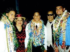 Jonathan Fatu, Joshua Fatu, and their cousin Joe Anoa'i celebrate their graduation with Elvera Fatu (Jon and Josh's grandmother) and her brother Sika Anoa'i (Joe's father)