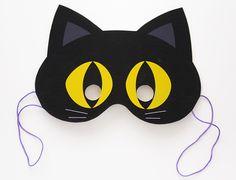 Maschera Halloween Gatto