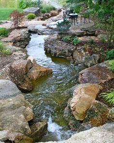 Backyard water feature More