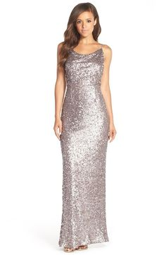 $300 ADRIANN PAPELL Cross Back Sequin Gown HOLLYWOOD PROM PAGEANT BRONZE TAUPE 0 #ADRIANNAPAPELL #GOWN #Cocktail