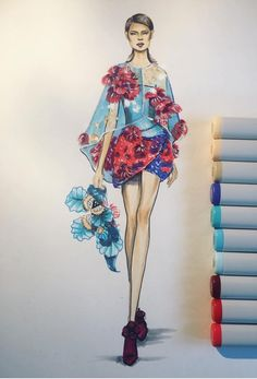 39 super Ideas for drawing sketches fashion Fashion Illustration Dresses, Dress Illustration, Fashion Illustrations, Trendy Fashion, Fashion Art, Fashion Models, Fashion Design Drawings, Fashion Sketches, Drawing Fashion