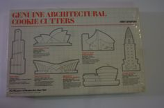 Vintage Cookie Cutters Architectural Buildings from The Museum of Modern Art Dead Stock Set of 6 in Original Box 1988 by ZoomVintage on Etsy