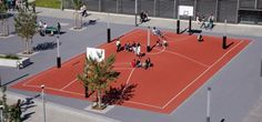 3D² at Occupational School Center Munich, Germany by inges idee- pretty cool public art piece for a playground
