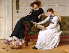 "George Dunlop Leslie, ""The Language of Flowers"""