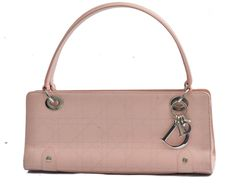 Christian Dior Baby Pink Calfskin Cannage East West Tote Bag