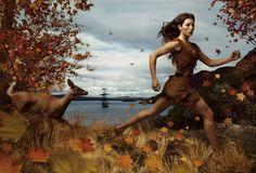 "Jessica Biel as Pocahontas - ""Where dreams run free."" - Disney Dream Portrait photos by Annie Leibovitz"