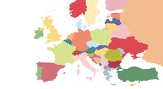 This Map Shows The Most Popular Foods in Europe