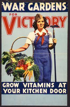 12 Fantastic Victory Garden Posters - Modern Farmer #garden #design #vintage