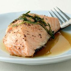 Grilled Salmon with Garlic, Lemon, and Basil | MyRecipes.com