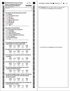 printable evaluation form template samples and templates