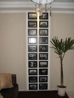 Painel de Fotos feito com isopor