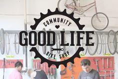 The Good Life Community Bike Shop Logo by Fran Motta, via Behance