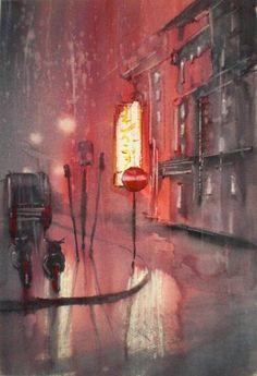 "Saatchi Art Artist Giorgio Gosti; Painting, ""city lights"" #art"
