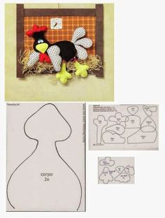 Felt Patterns, Bird Patterns, Sewing Crafts, Sewing Projects, Projects To Try, Farm Crafts, Diy And Crafts, Chicken Pattern, Chicken Crafts