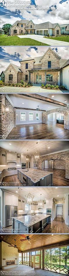 Architectural Designs French Country House Plan 510005WDY. The home gives you 4 beds, 5 baths and over 4,300 square feet of heated living space. Ready when you are. Where do YOU want to build?