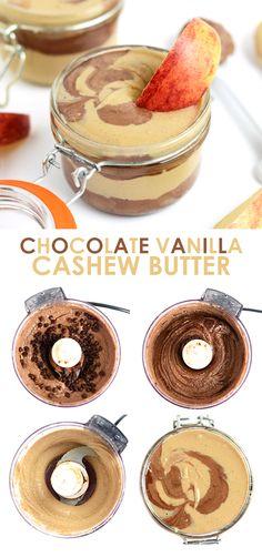 Chocolate Vanilla Swirl Cashew Butter   FitFoodieFinds.com