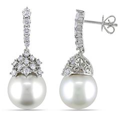 15902a252 Michiko Pearls, one of the most respected cultured pearl companies in the UK.  Having. White Gold JewelryGold JewelleryWhite EarringsDiamond ...