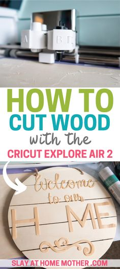 See how to cut wood with your Cricut Explore Air 2 - this easy tutorial guides you through making your own home decor sign and cutting wood veneer lettering. diy home decor wood How To Cut Wood With Cricut Explore Air 2 Cricut Air 2, Cricut Vinyl, Diy Home Crafts, Decor Crafts, Diy Projects For Home, Wood Crafts, Teen Crafts, Diy Home Decor Easy, Fun Crafts For Kids