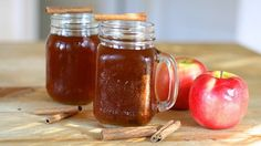 With just some apple cider, apple juice, spices and booze, you can whip up a batch of this apple pie moonshine.
