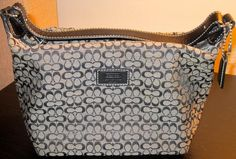 Black and Gray Coach Purse