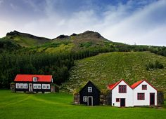 I love the style and simplicity of these Icelandic homes.