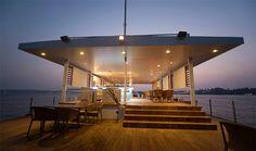 sdm architects floating restaurant barge goa india designboom