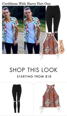 """Untitled #402"" by jade-koonz ❤ liked on Polyvore featuring Topshop and Ancient Greek Sandals"