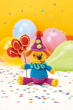 Find out how to make a Party Dog with this free crochet pattern from Top Crochet Patterns