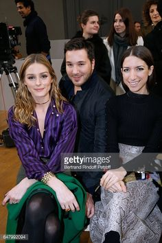 Olivia Palermo Lucas Somoza and Gilda Ambrosio attend the Nina Ricci show as part of the Paris Fashion Week Womenswear Fall/Winter 2017/2018 on March...