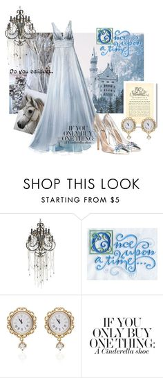 """""""Once Upon A Time Cinderella"""" by lolly-p ❤ liked on Polyvore featuring Angel Sanchez, Currey & Company, Once Upon a Time and Dolce&Gabbana"""