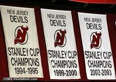 New Jersey Devils, Stanley Cup champions in 1994-1995, 1999-2000, and 2002-2003