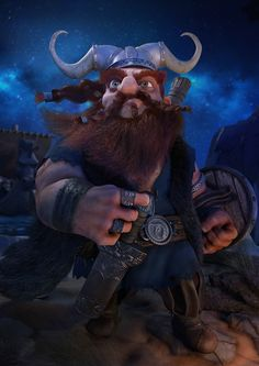 Viking by Luigi Monaldi | Cartoon | 3D | CGSociety