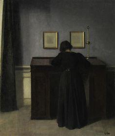 Vilhelm Hammershøi (1864-1916 Danish) • -