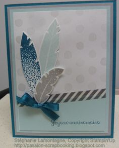 Four Feathers by Stampin'Up Holidays minicatalogue, washi tape, birthday card