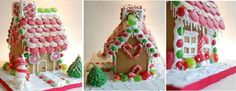 Candy covered gingerbread house for Christmas byThe Happy Little Baker, UK as featured on Cake Geek Magazine Online.
