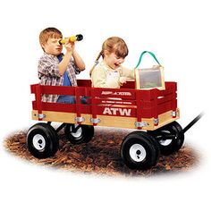 Radio Flyer All-Terrain Cargo Wagon if the flower girl and ring boy can't walk maybe they can ride in a decorated wagon--a parade :) may need another groomsmen or escort...and the dogs can be included too--out first and tied to a tree.  I have a wagon but I'm sure those with kids do too.