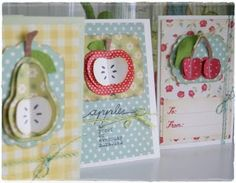 cute fruit cards